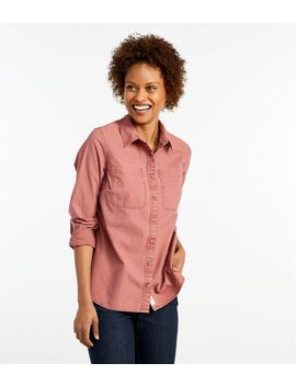 L.L. Bean Heritage Sunwashed Canvas Shirt by L.L.Bean