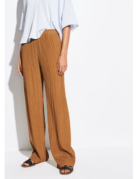 Crinkle Pleat Pull On Pant by Vince
