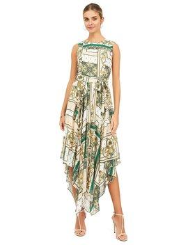 Patchwork Print Handkerchief Hem Dress by Suzy Shier
