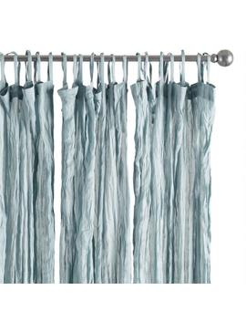Slate Blue Crinkle Voile Tie Top Curtains Set Of 2 by World Market