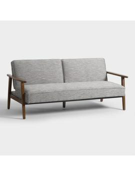 Gray Xander Convertible Loveseat by World Market