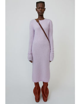 Mohair Blend Midi Dress Lilac Purple by Acne Studios