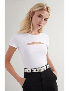 Cut Out Crop Tee   Final Sale by Garage