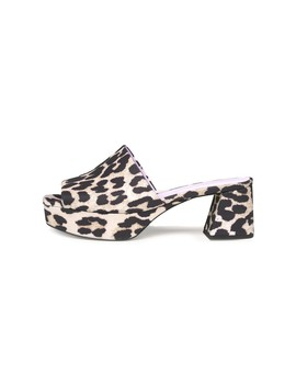 Plateau Mule In Leopard by Shop Bazaar