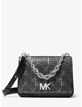 Mott Large Metallic Deco Leather Crossbody Bag by Michael Michael Kors
