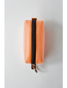 Zippered Pouch Neon Orange by Acne Studios