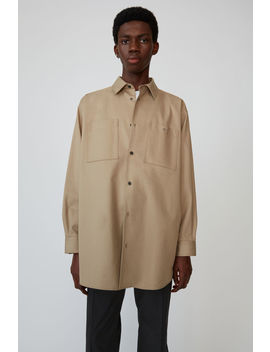 Oversized Shirt  Sand Beige by Acne Studios