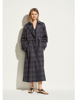 Plaid Trench by Vince