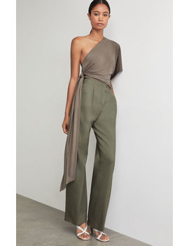 One Shoulder Tie Front Bodysuit by Bcbgmaxazria
