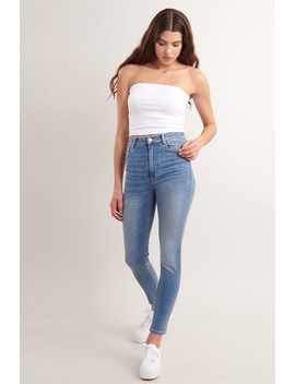 Ultra High Rise Jean   West End Blue   Final Sale by Garage
