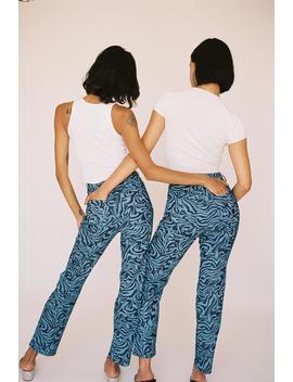 Junior Pants   Blue Zebra by Miaou