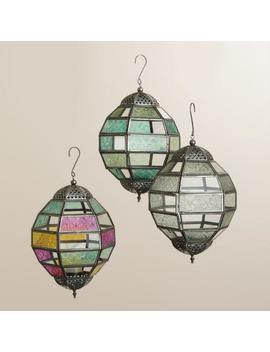 Small Multicolored Glass Hanging Ball Raya Lantern by World Market