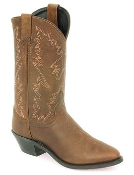 Old West Distressed Leather Cowgirl Boots by Oldwest