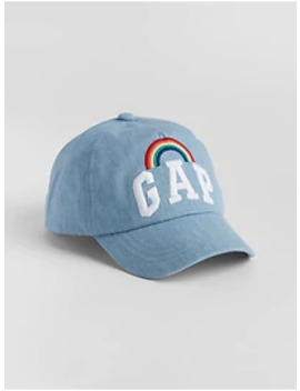 Kids Rainbow Gap Logo Baseball Hat by Gap