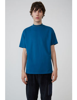 Logo Crewneck T Shirt Indigo Blue by Acne Studios