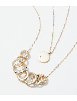 Ring Pendant Necklace by Loft