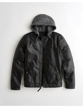 Hooded Moto Jacket by Hollister
