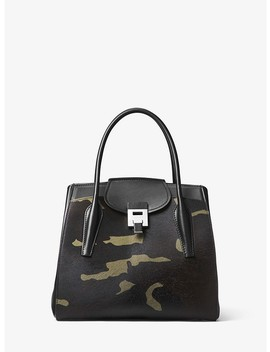 Bancroft Large Camouflage Calf Hair Satchel by Michael Kors