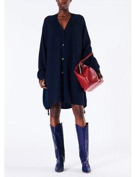 Luxe Merino Wool Silk Back Cardigan Dress by Tibi