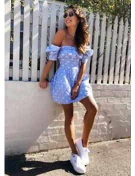 New Women's Steele Brigitte Pink Check Mini Dress   Small by Steele