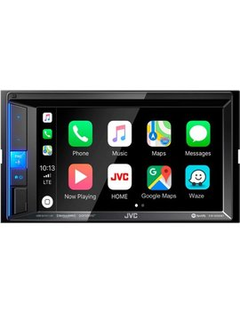 "6.2""   Apple® Car Play™   Built In Bluetooth   In Dash Digital Media Receiver   Black by Jvc"