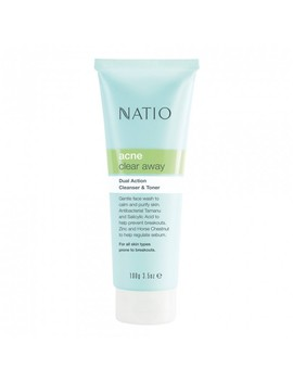 Dual Action Cleanser & Toner 100 G by Natio