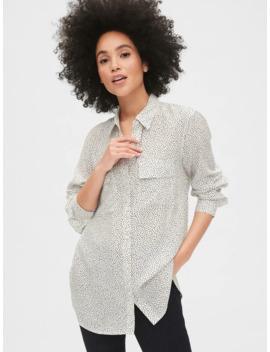 Utility Pocket Print Boyfriend Shirt by Gap