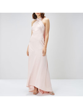 Halter Neck Satin Maxi by Coast