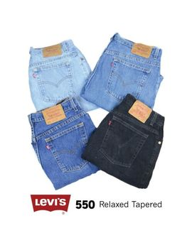 Vintage Levis 550 High Waisted Womens Relaxed Tapered Mom Jeans 26 27 28 29 30 3 by Levi Strauss &Amp; Co