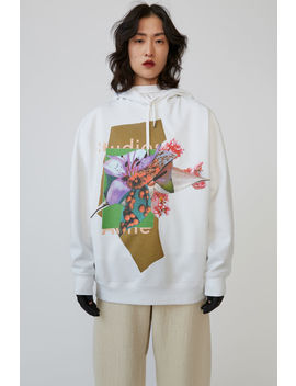 Flower Print Hoodie Green/Multi by Acne Studios