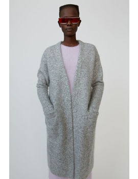 Mohair Blend Cardigan Cold Grey Melange by Acne Studios