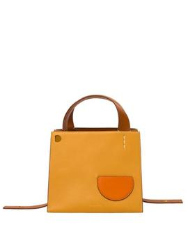 Margot Square Sand Leather Bag by Fivestory