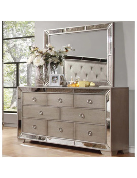 Best Master Furniture Silver Bronze Dresser And Mirror by Generic