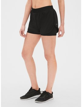 "Gap Fit 5"" Layered Running Shorts by Gap"