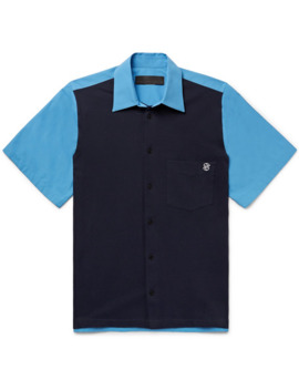 Rodney Logo Embroidered Organic Cotton Piqué And Poplin Shirt by Stella Mc Cartney