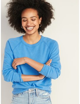 Relaxed Crew Neck Sweatshirt For Women by Old Navy
