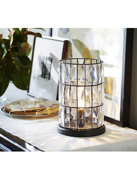 Adeline Crystal Ambient Accent Lamp by Pottery Barn