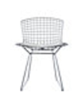 Bertoia Side Chair With Vinyl Seat Pad by Design Within Reach