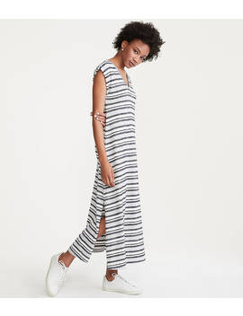 Lou &Amp; Grey Striped Maxi Tee Dress by Loft