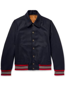 Reversible Wool Blend Bomber Jacket by Dries Van Noten