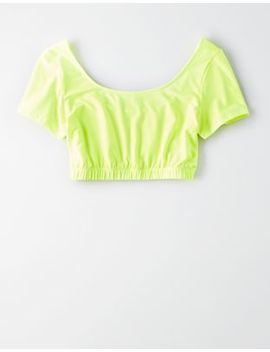 Ae Studio Cropped Tee by American Eagle Outfitters