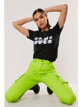 Black Game Over Graphic T Shirt by Missguided