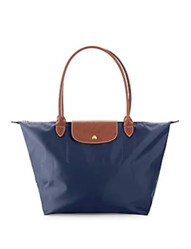 Leather Trimmed Double Handle Tote by Longchamp
