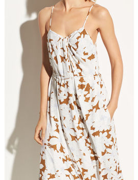 Tropical Blooms Twist Front Dress by Vince
