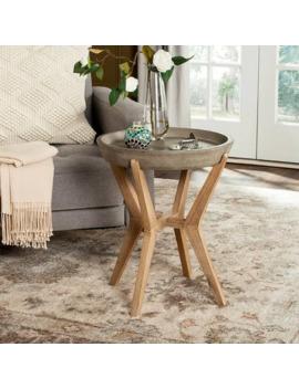 Safavieh Celeste Indoor/ Outdoor End Table (Dark Grey) by Safavieh