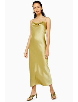 Tall Khaki Slip Dress by Topshop