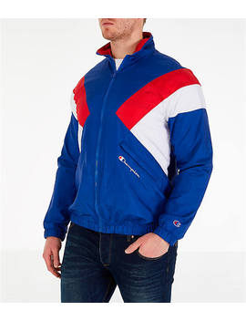 Men's Champion Nylon Colorblock Track Jacket by Champion