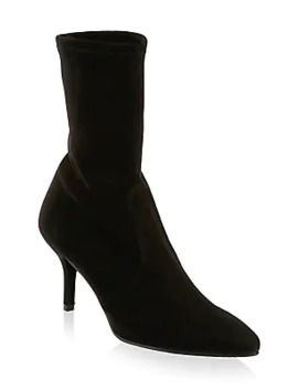 Cling Suede Sock Boots by Stuart Weitzman