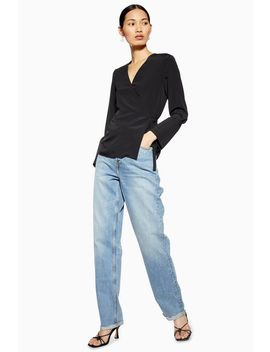 Tall Mid Blue Dad Jeans by Topshop