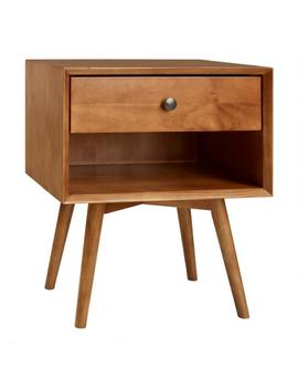 Pine Mid Century Archer Nightstand With Drawer by World Market